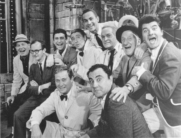 Bob Hope and fellow comics pose in 1966