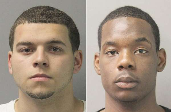 John Markou, left, and Tyrese Chestnut were charged
