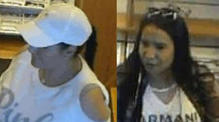 Suffolk County police released surveillance images of two