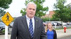 Edward Walsh arrives at federal court in Central