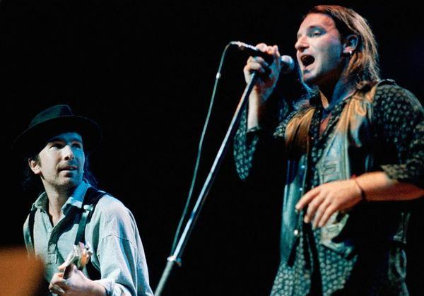 U2's The Edge, left, and Bono -- seen
