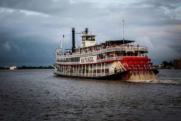 The historic Steamboat Natchez.