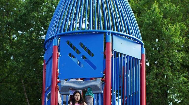 Port Jefferson's newly refurbished Rocketship Park reopened on