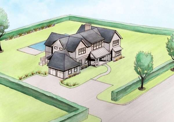 A rendering of one of two Southampton homes