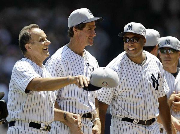 From left, Joe Torre, Paul O'Neill and Bernie