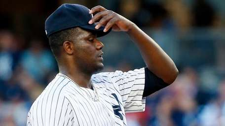 Michael Pineda of the New York Yankees stands