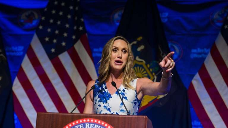 Lara Trump, President Donald Trump's daughter-in-law, speaks at