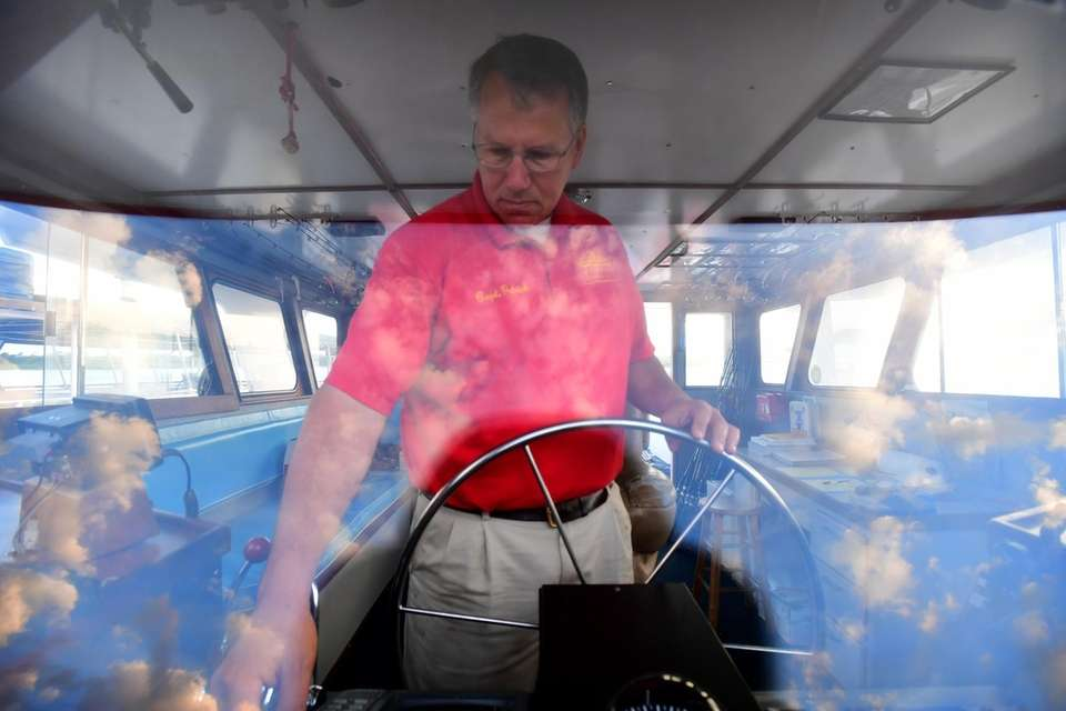 Capt. Patrick GIllen prepares to sail his 82-foot