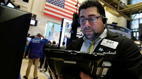 Trader Michael Capolino on the floor of the