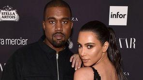 Kanye West and Kim Kardashian in Manhattan on