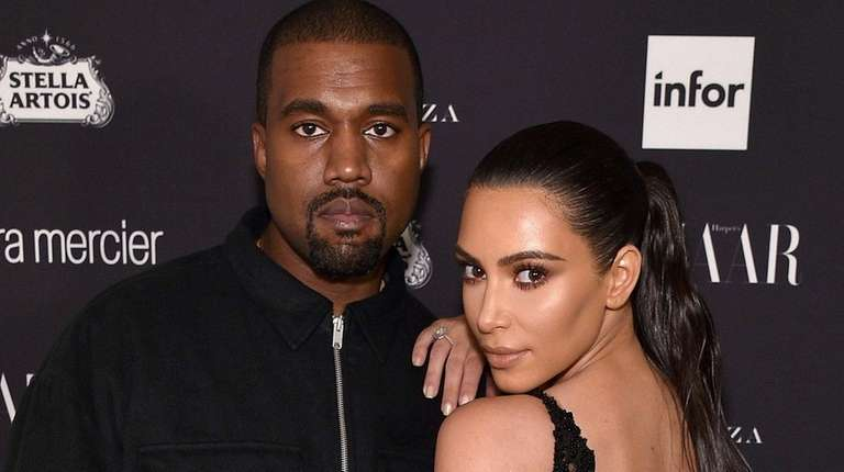 Kanye West and Kim Kardashian in Manhattan on