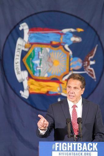 New York Gov. Andrew Cuomo speaks at a