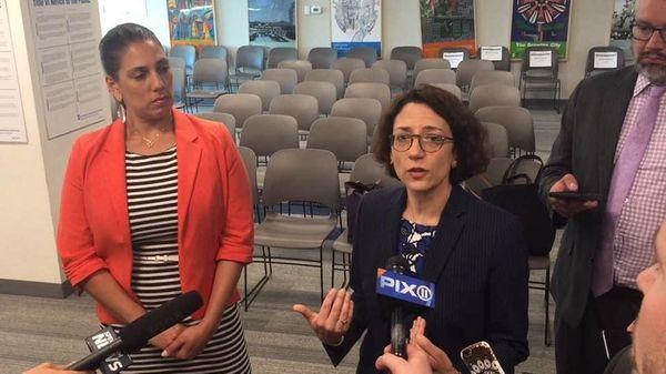 MTA Board members Veronica Vanterpool and Polly Trottenberg
