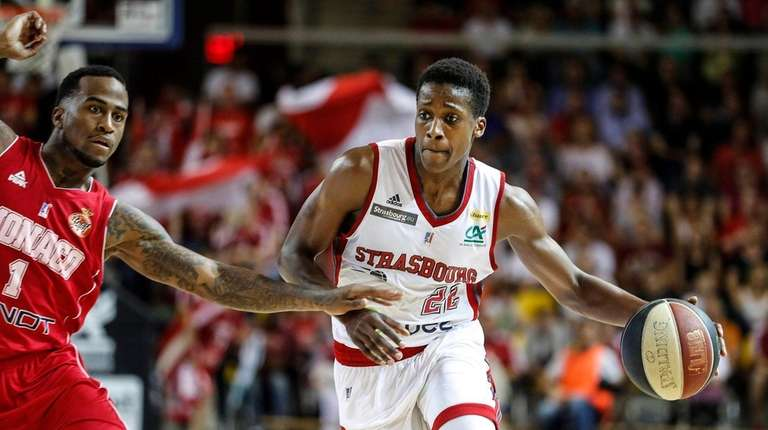 Professional player Frank Ntilikina, one of French basketball's