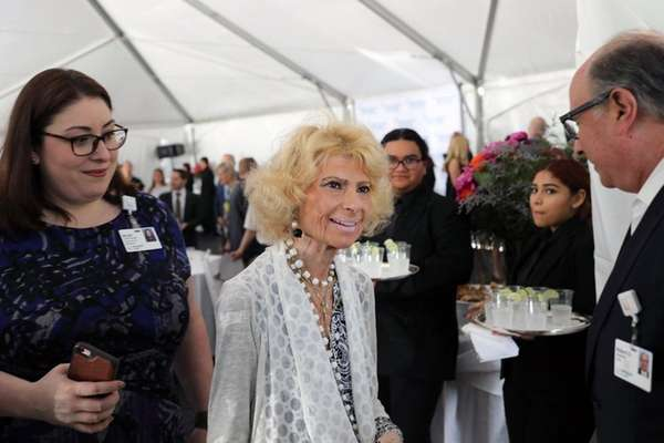 At a ceremony in her honor, Sandra Atlas