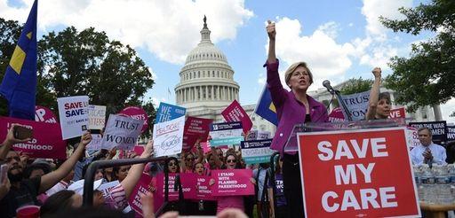 U.S. Sen. Elizabeth Warren (D-MA) speaks at a