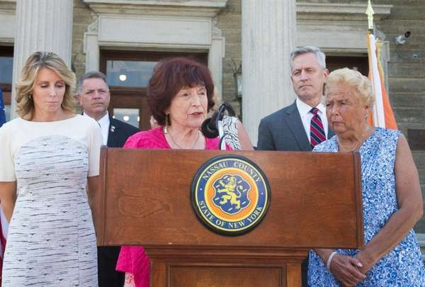Nassau County legislator Norma Gonzalves with the rest