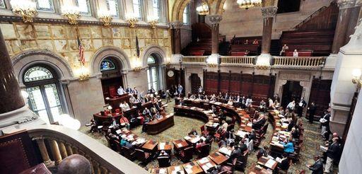 New York State senators work at the state