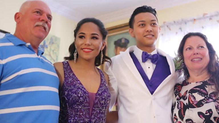 Newsday's Project Prom winner, Felicity Joy Masone, enjoyed