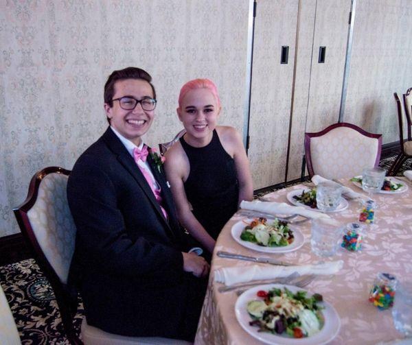 Matthew Cullen, 18 and his girlfriend, Abigail Lang,