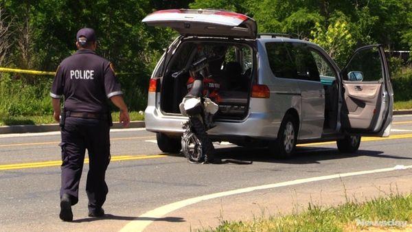 A minivan driver was arrested after a crash