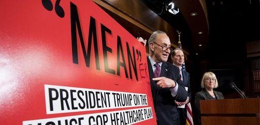 Senate Minority leader Chuck Schumer, written ''ER'' to