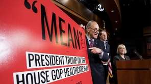 Senate Minority leader Chuck Schumer, written ''ER'' to