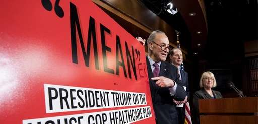 Senate Minority leader Chuck Schumer, with Sen. Ron