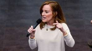Rep. Kathleen Rice speaks during a town hall