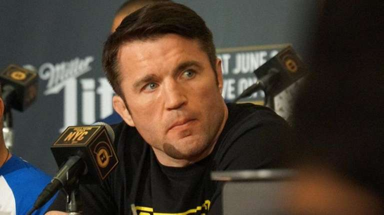 Chael Sonnen speaks during a Bellator NYC press