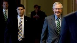 Senate Majority Leader Mitch McConnell of Ky. arrives
