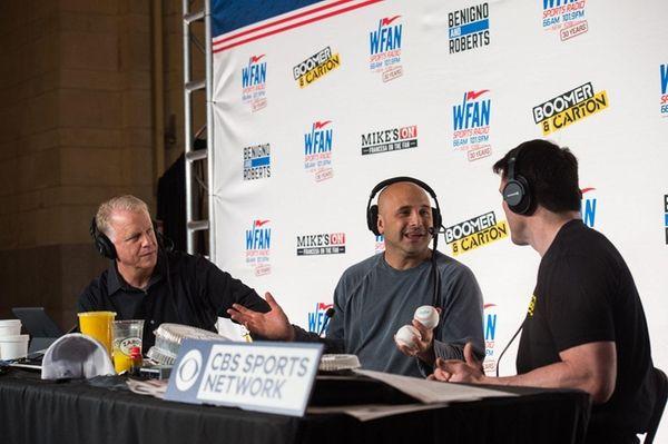 Boomer Esiason, left, and Craig Carton host their