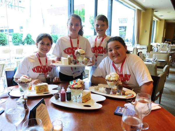Kidsday reporters at Rock Center Cafe's Summer Garden