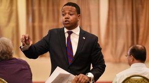 Nassau County Legis. Carrié Solages declared his innocence