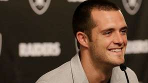 Oakland Raiders Derek Carr finalized a five-year contract