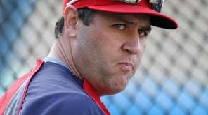 Lance Berkman of the St. Louis Cardinals before