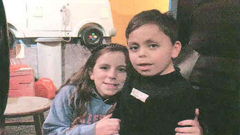 Kidsday reporter Hilary Heaney and her 7-year-old brother,