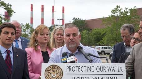 Bethpage Water District Superintendent Mike Boufis calls on