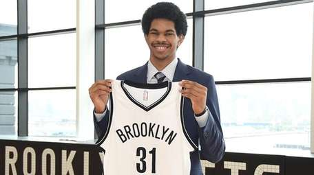 The Nets introduceJarrett Allen to the media on