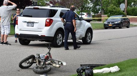 A 16-year-old dirt bike rider was injured when