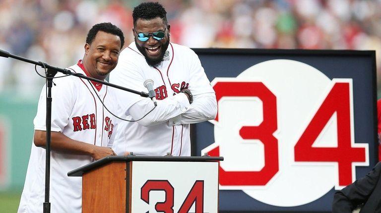 Former Boston Red Sox players David Ortiz