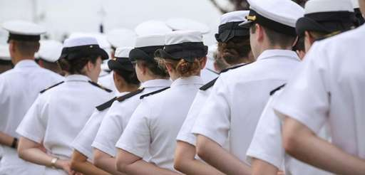 Midshipmen at the U.S. Merchant Marine Academy in