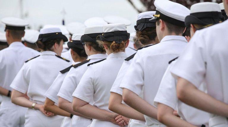 Midshipmen at the U.S. Merchant Marine Academy in
