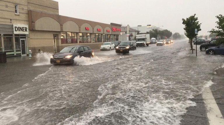 Heavy rain caused flooding on West Park Avenue