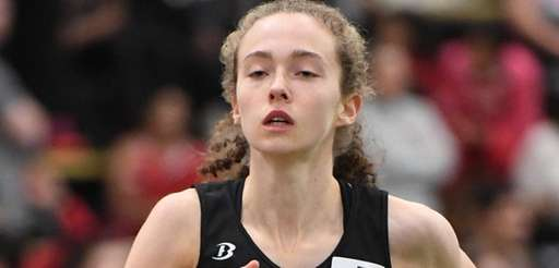 Brianna O'Brien of Wheatley runs the girls 3,000