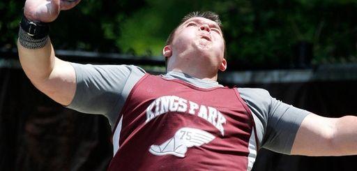Dan Byrne shot puts 60 feet, 1/4 inch