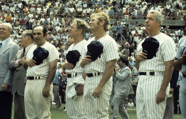 Gabe Paul, Joe McCarthy, Yogi Berra #8, Whitey