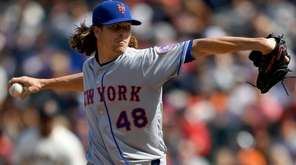 Jacob deGrom went a breezy eight innings, allowing
