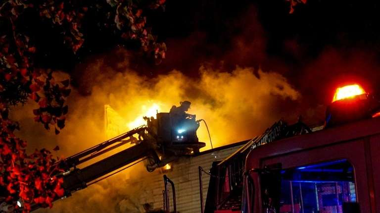 The FDNY was fighting a four-alarm fire at