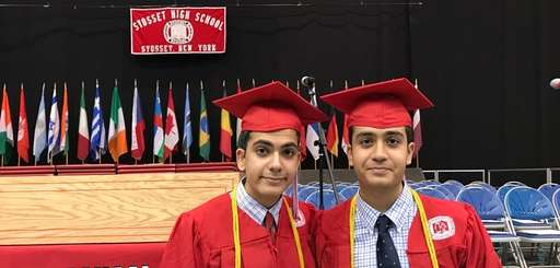 Syosset High School students and twin brothers Sahil